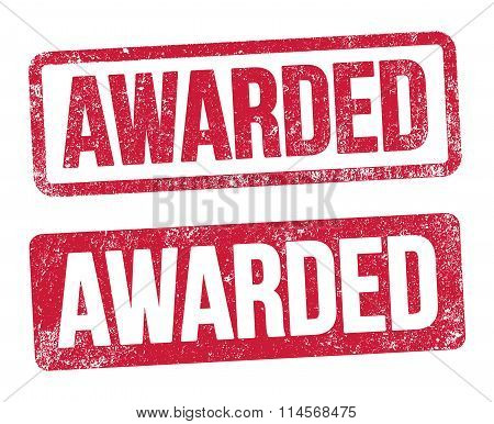 Awarded red stamp