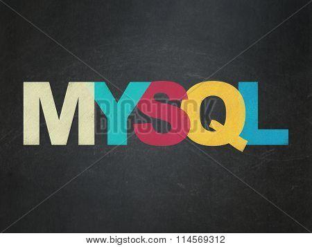 Software concept: MySQL on School Board background