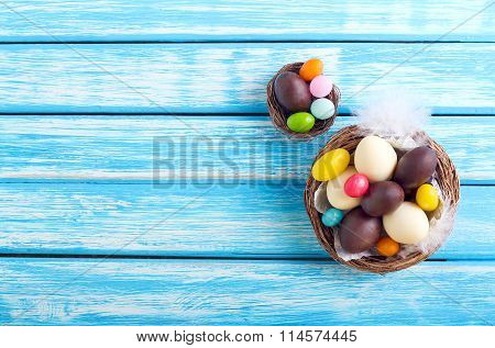 Chocolate And Candy Easter Eggs
