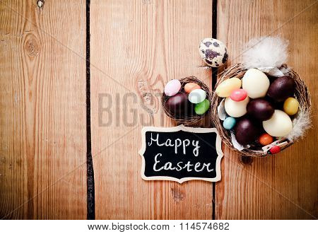 Easter Background With Chocolate