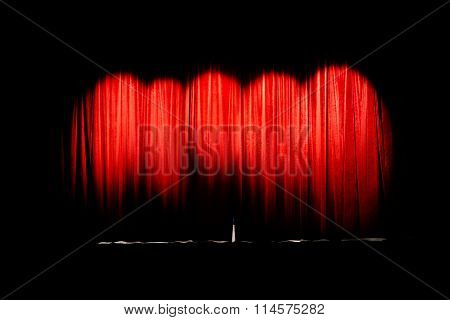 Curtain movie theater closed