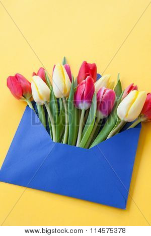 Colorful Flowers In Envelope