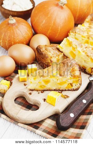 Pie With Pumpkin And Curd