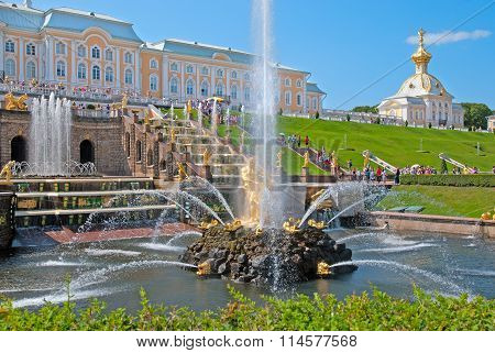 Peterhof. Russia. The Samson Fountain