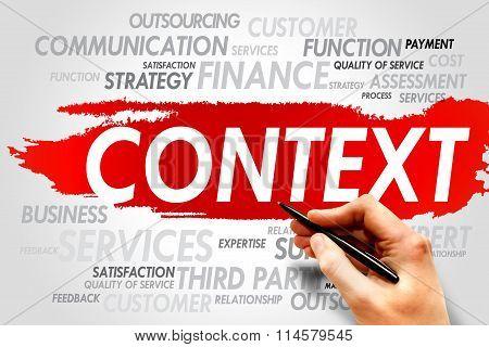 CONTEXT word cloud business concept, presentation background