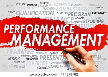 Performance Management word cloud business concept, presentation background