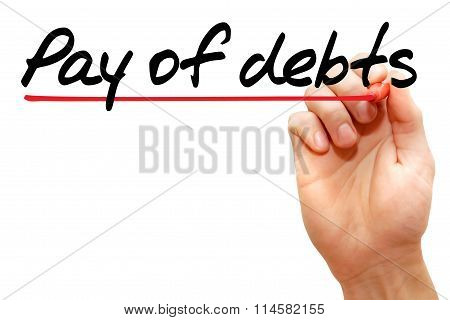 Pay Of Debts
