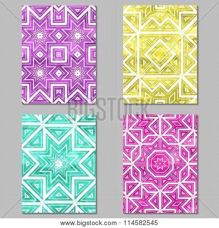 Set of 4 vivid multicolor journaling cards