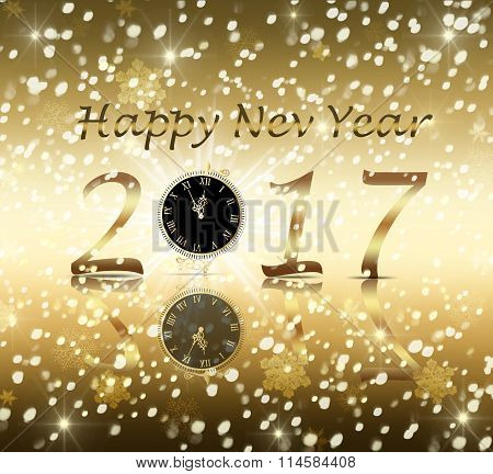 Greeting card happy new year 2017