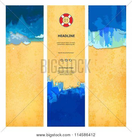 Set of Summer Beach Banners