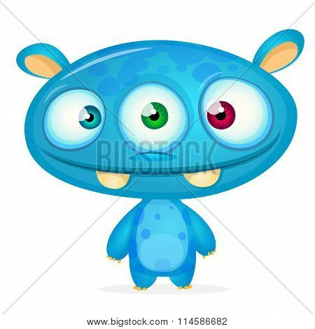Cute cartoon monster. Vector character