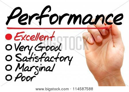 Performance Evaluation Form, Business Concept..