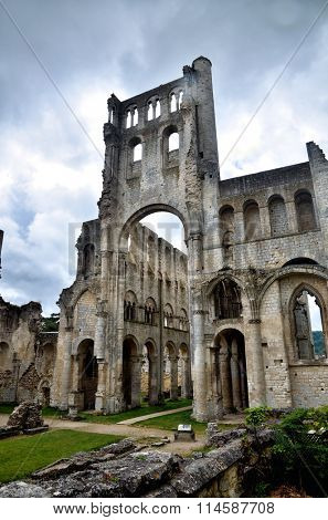 Jumieges Abbey in Normandy is one of the most beautiful, romantic and outstanding ruins in France
