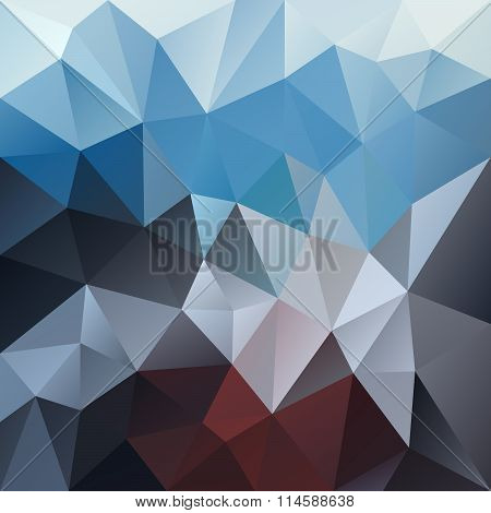 Vector Polygon Background With Irregular Tessellation Pattern - Triangular Geometric