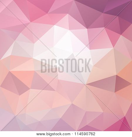 Vector Polygon Background With Irregular Tessellation Pattern - Triangular Geometric Design In Sweet