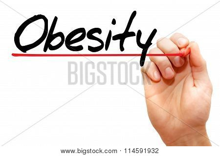 Hand Writing Obesity, Concept