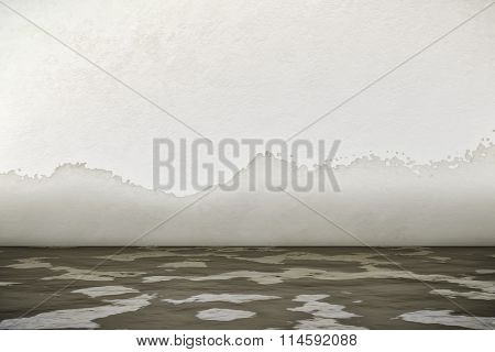 A 3d rendering of an interior water damage