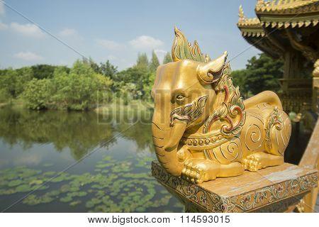 Thailand Bangkok Samut Prakan Ancient City Elephant