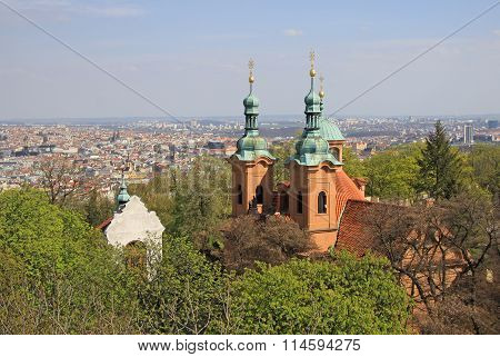 Prague, Czech Republic - April 24, 2013: Cathedral Church Of Saint Lawrence On Petrin Hill In Prague