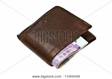 Black Wallet And Hk Dollars