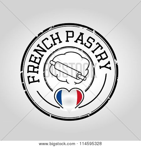French pastry stamp