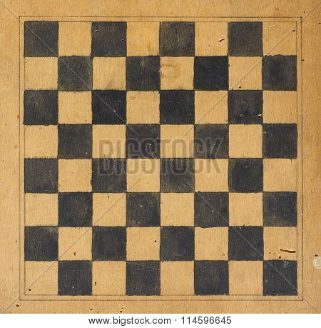 Draughts Or Checkers Game Board
