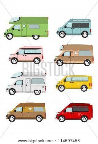 Cartoon Camper Van