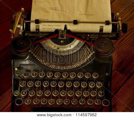 Vintage Typewriter Message
