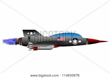 Jet-fighter On White.