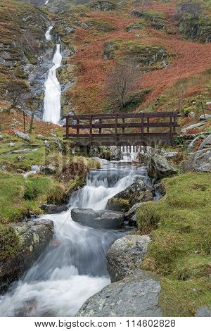 Rhaeder Bach a Welsh Waterfall