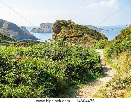 Landscape Of The Sark Island, Guernsey, Channel Islands