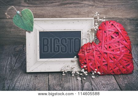 Two Hearts And Blackboard