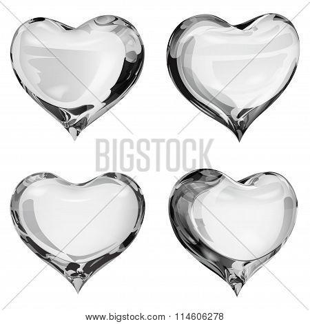 Opaque Gray Hearts