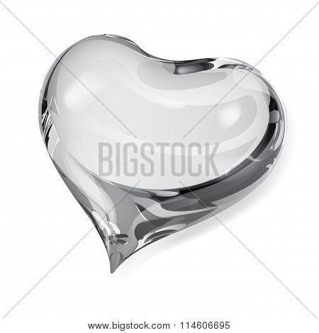 Opaque Gray Heart