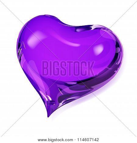 Opaque Violet Heart