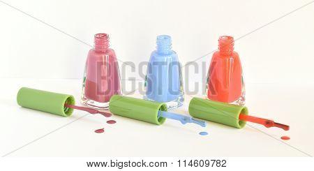 Three Bottles Of Nail Polish