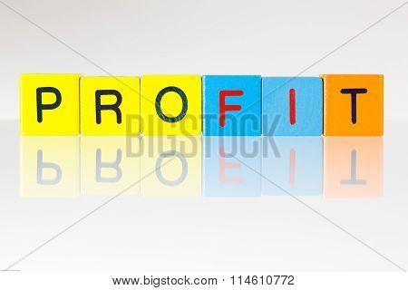 Profit- An Inscription From Children's Blocks