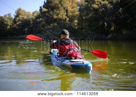 Kayaking the Colorado River .