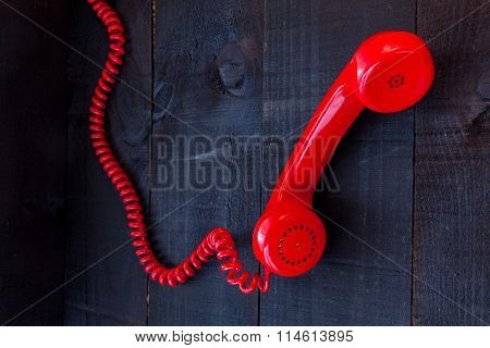 The red retro telephone