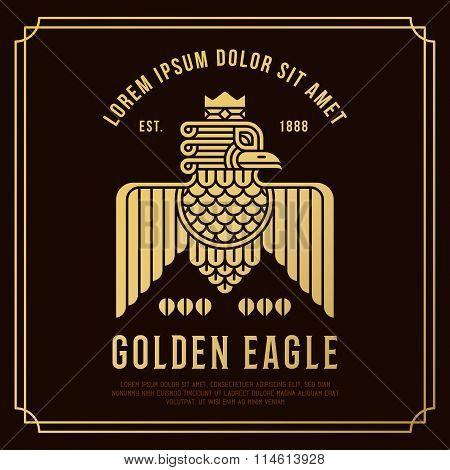 Retro Vintage  Eagle Symbol.