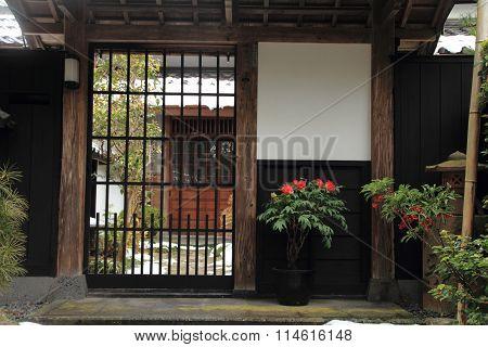 Shiomi-nawate street (castle town) in Matsue Shimane Japan