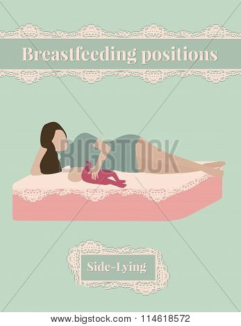 Breastfeeding position Side-Lying, mother and baby