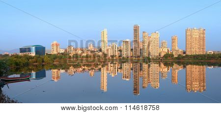 Navi Mumbai, India - 6 December 2015: Navi Mumbai is planned suburb built across sea on main land to reduce Mumbai congestion.