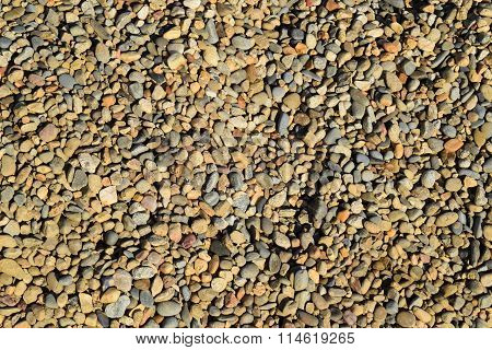 Background From Small Round Crushed Stone