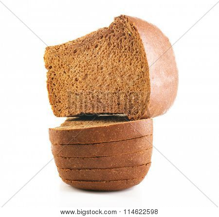 Sliced bread isolated on white