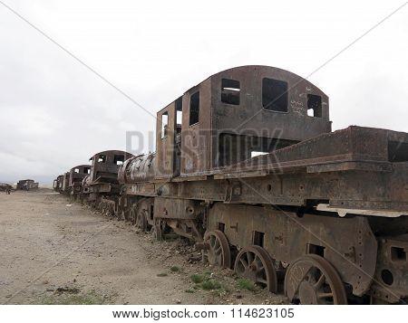 Train Cemetary, Uyuni, Bolivia