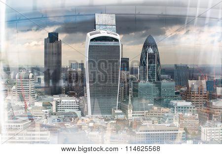 City of London, vintage effect image