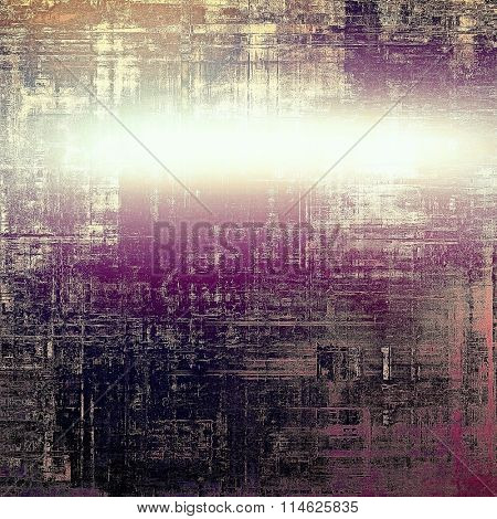 Old, grunge background texture. With different color patterns: brown; black; purple (violet); white; pink