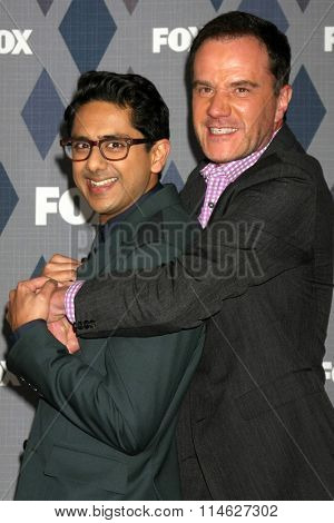LOS ANGELES - JAN 15:  Adhir Kalyan, Tim DeKay at the FOX Winter TCA 2016 All-Star Party at the Langham Huntington Hotel on January 15, 2016 in Pasadena, CA
