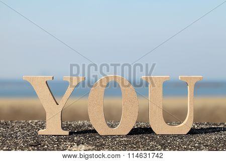 word you made with wooden block